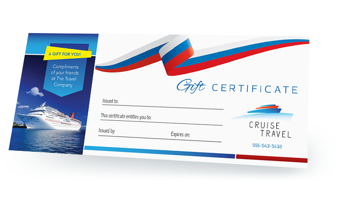 Gift certificate template png. Make a design easily