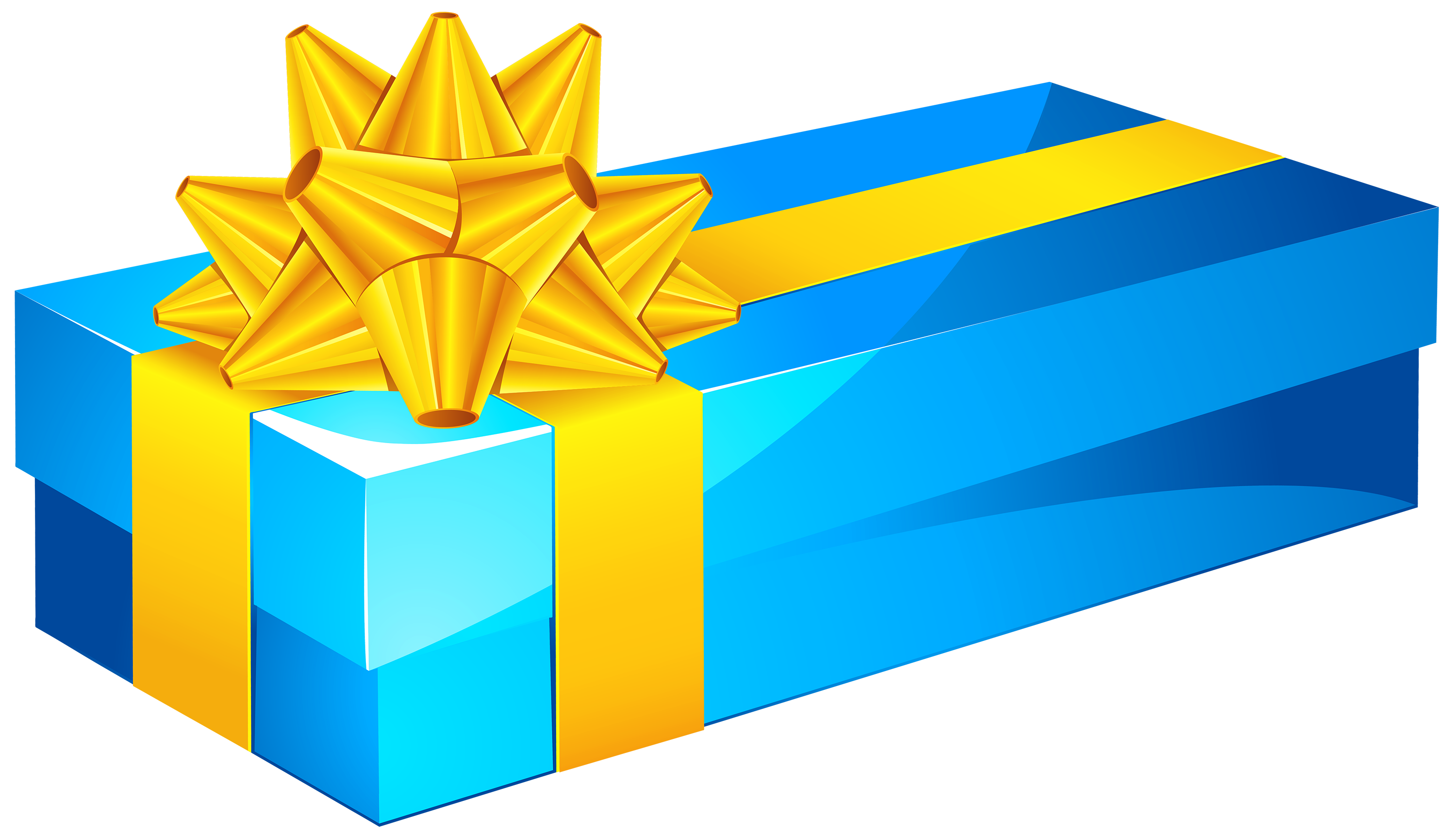 Gift clipart. Blue box png best