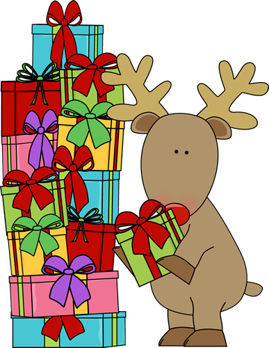 Rudolph vector christmas present. Decorated tree clipart google