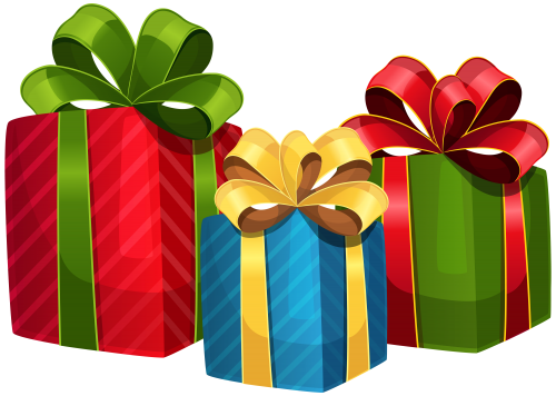 Gift clipart chrismas presents. Colorful png pinterest clip