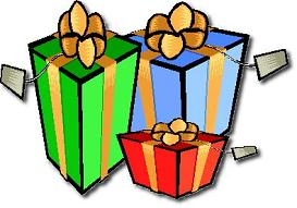 Gift clipart chrismas presents. Free christmas wrapped with