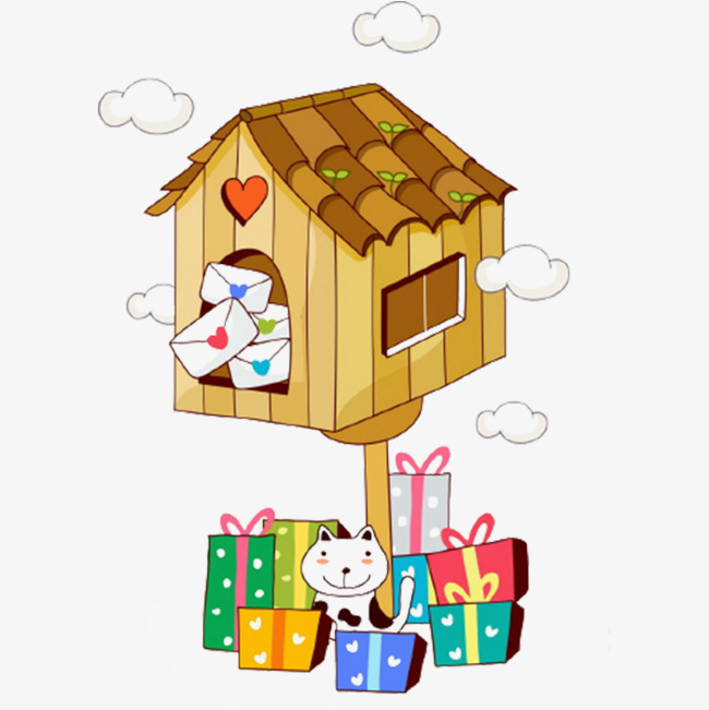 Gift clipart house png. Shape mailbox image and