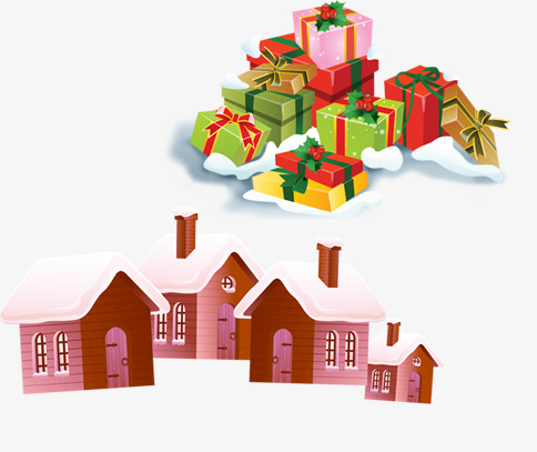 Gift clipart house png. Christmas and psd file