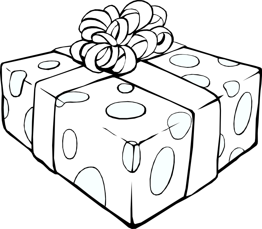 Gift clipart outline. Free pictures download clip