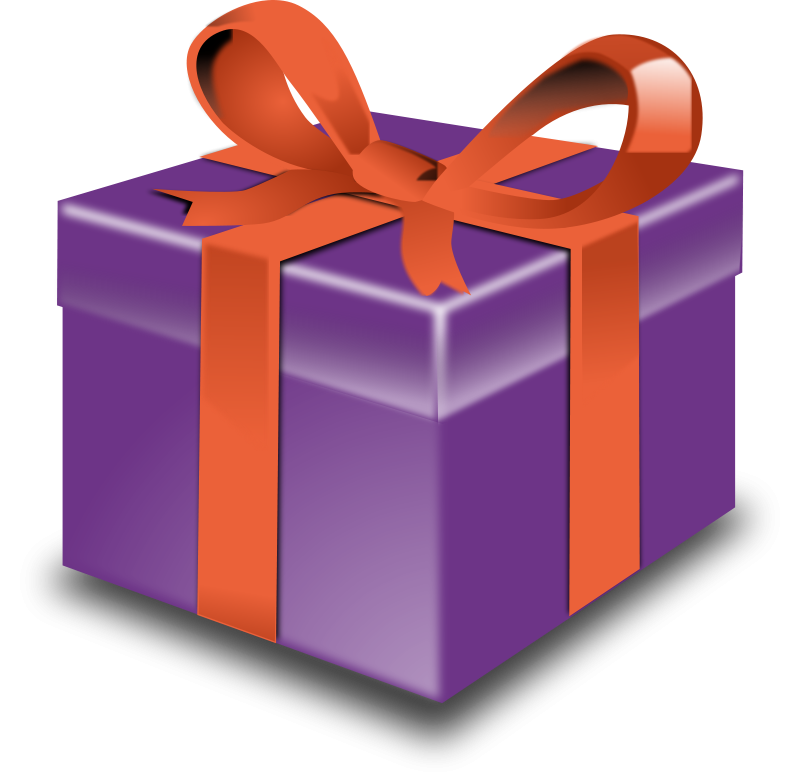 Transparent present gift. Free pictures download clip