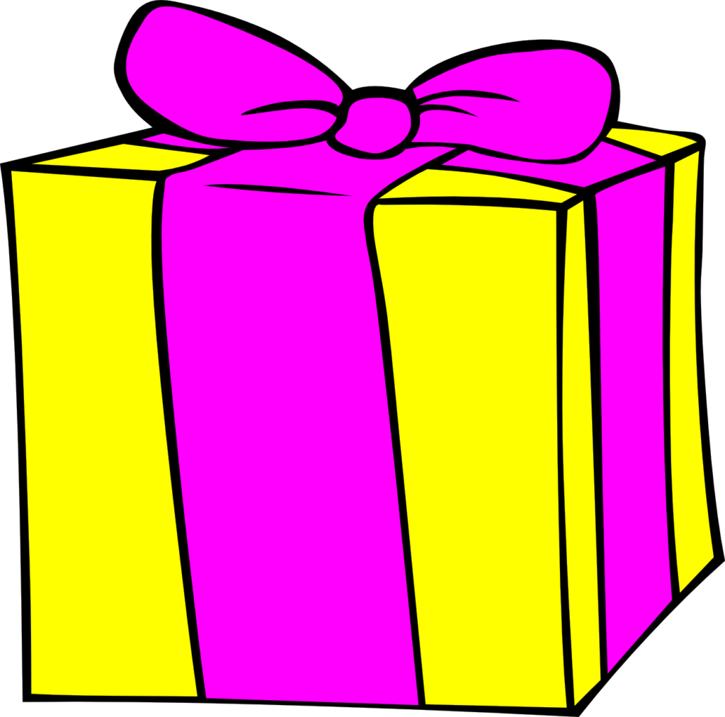 Presents clipart yellow. Birthday present gifts