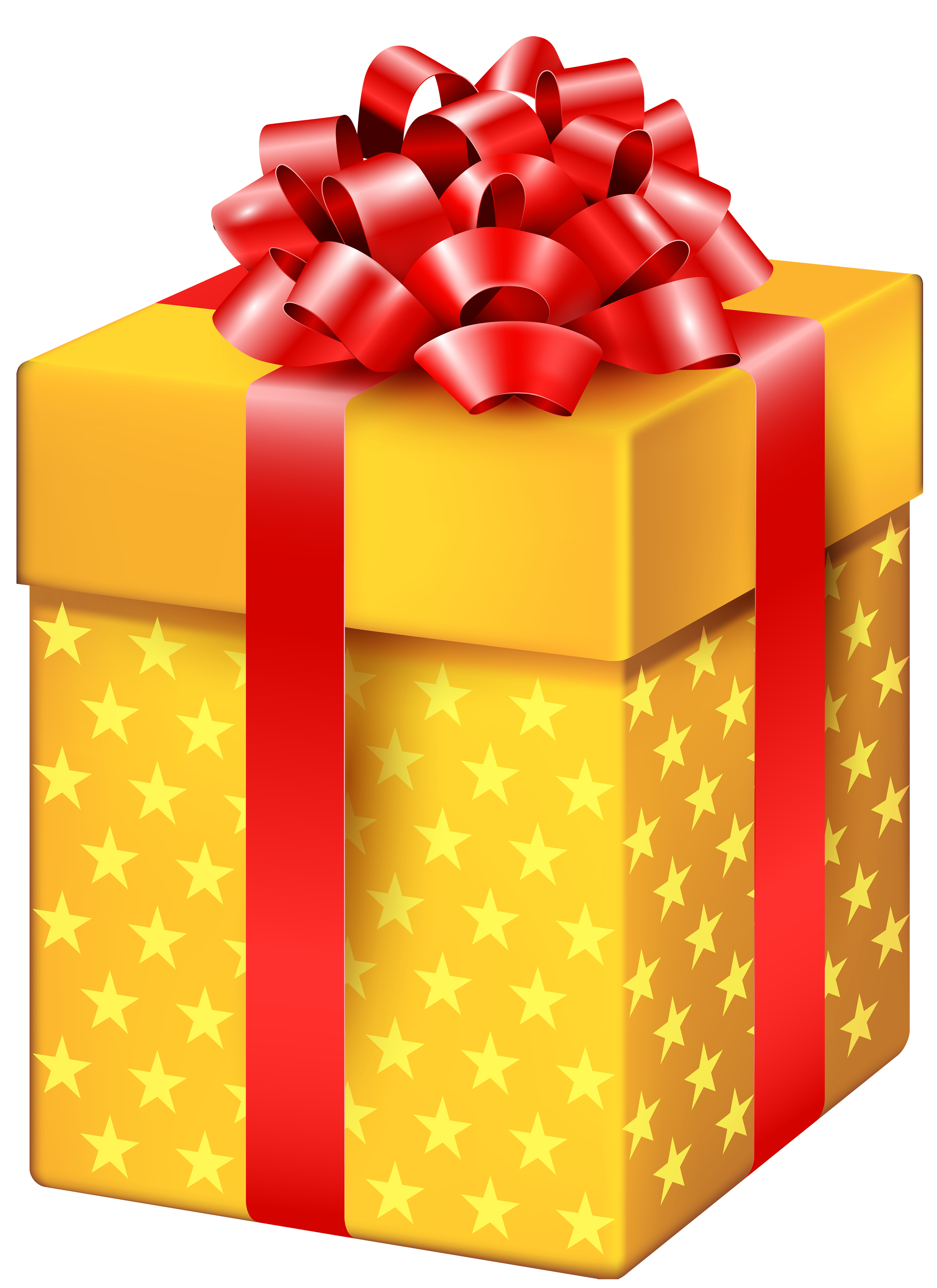 Gift clipart special gift. Yellow box with stars