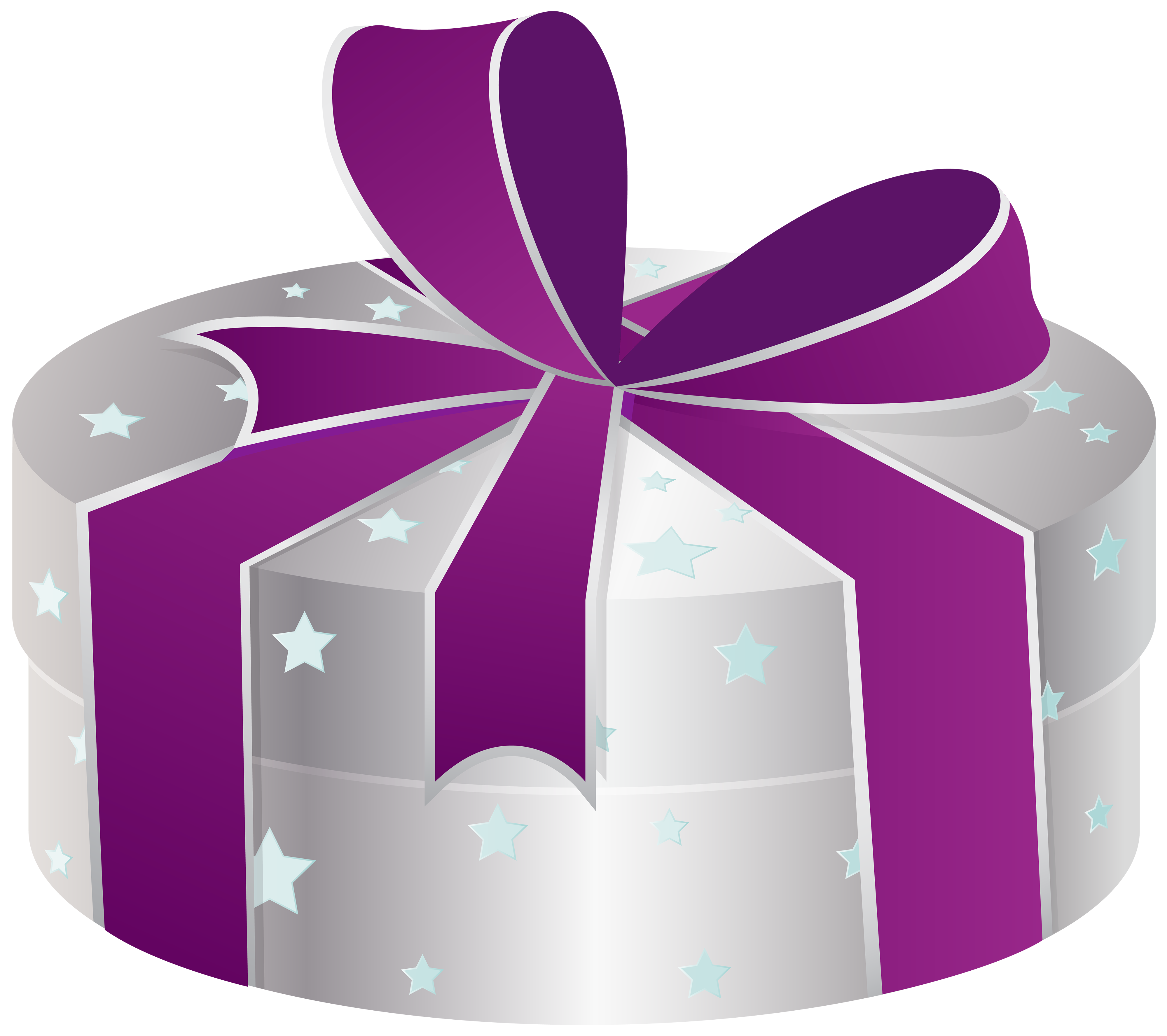 Gift clipart special gift. Silver box with stars