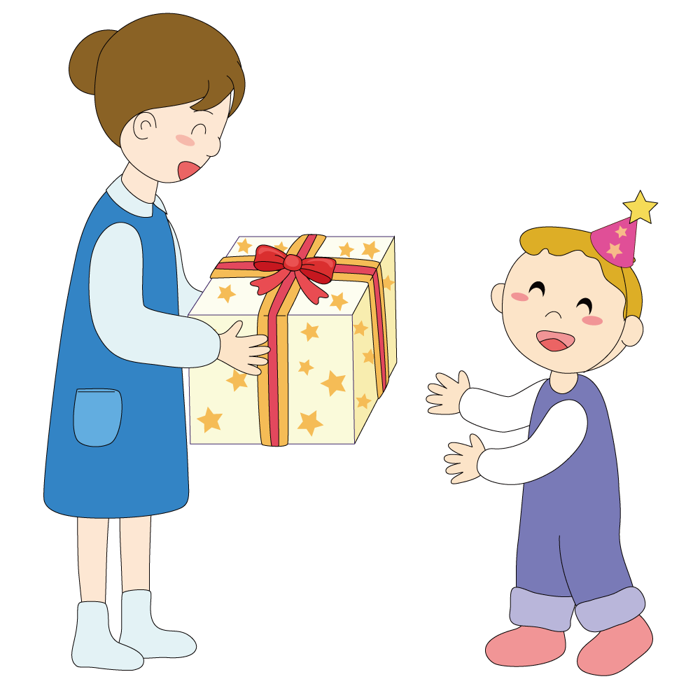 Gift giving png. Child illustration mother gifts