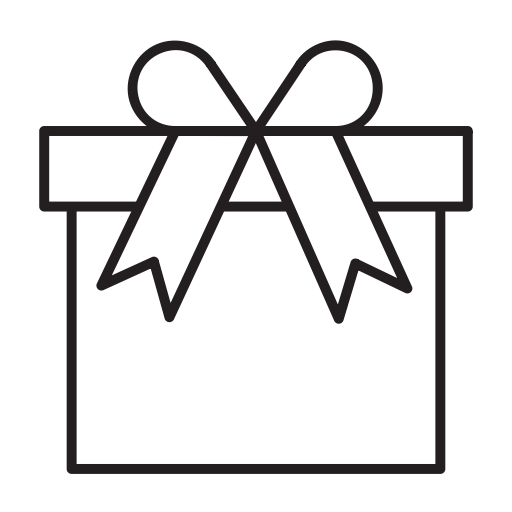 Gift outline png. Icon ico