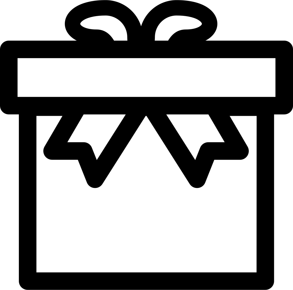 Gift outline png. Box svg icon free