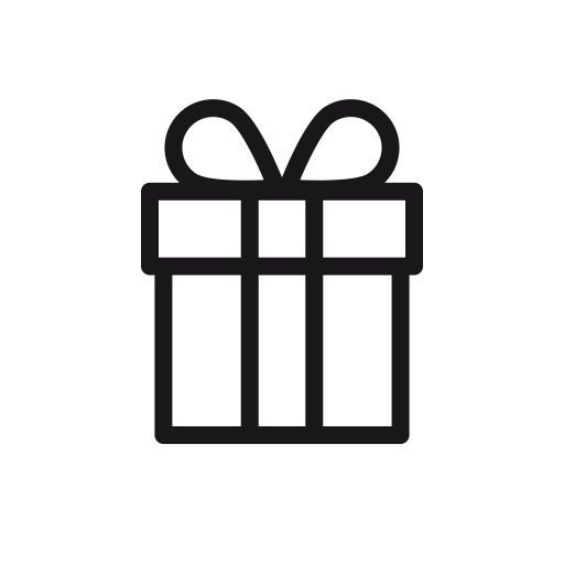 Gift outline png. Icons for free christmas