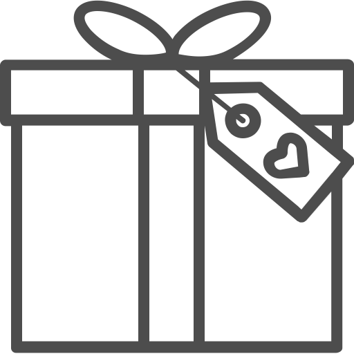 Gift outline png. Package present romantic valenticons