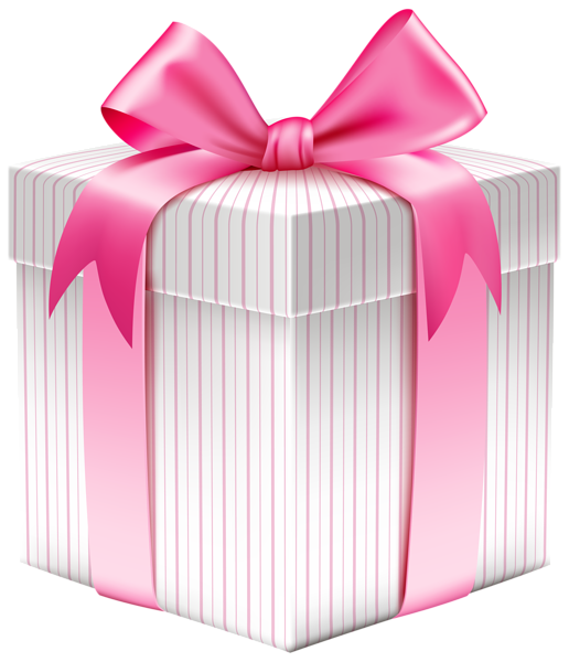 Gift .png. White striped box png