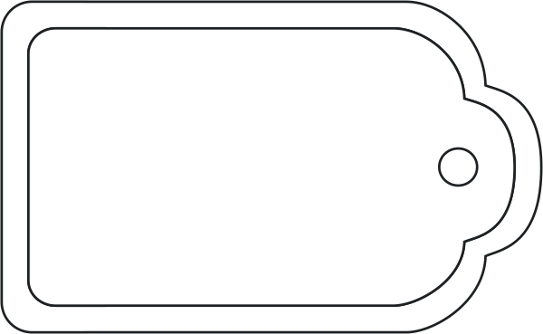 Tag template png. Blank gift april onthemarch