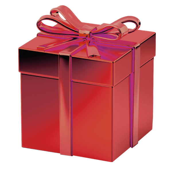 Gift transparent. Red box background image