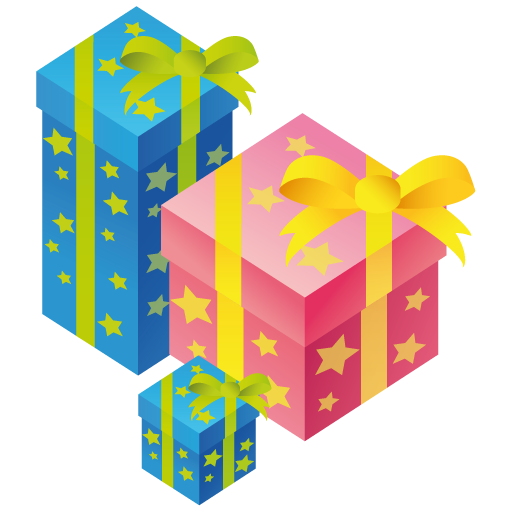 Vector present birthday. Icon christmas gift free