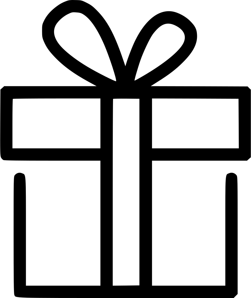 Gift wrap png. Surprise box svg icon