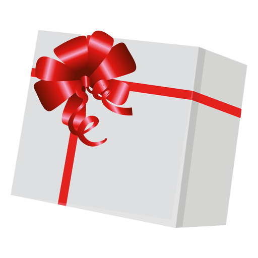 Gift wrap png. Box with red transparent