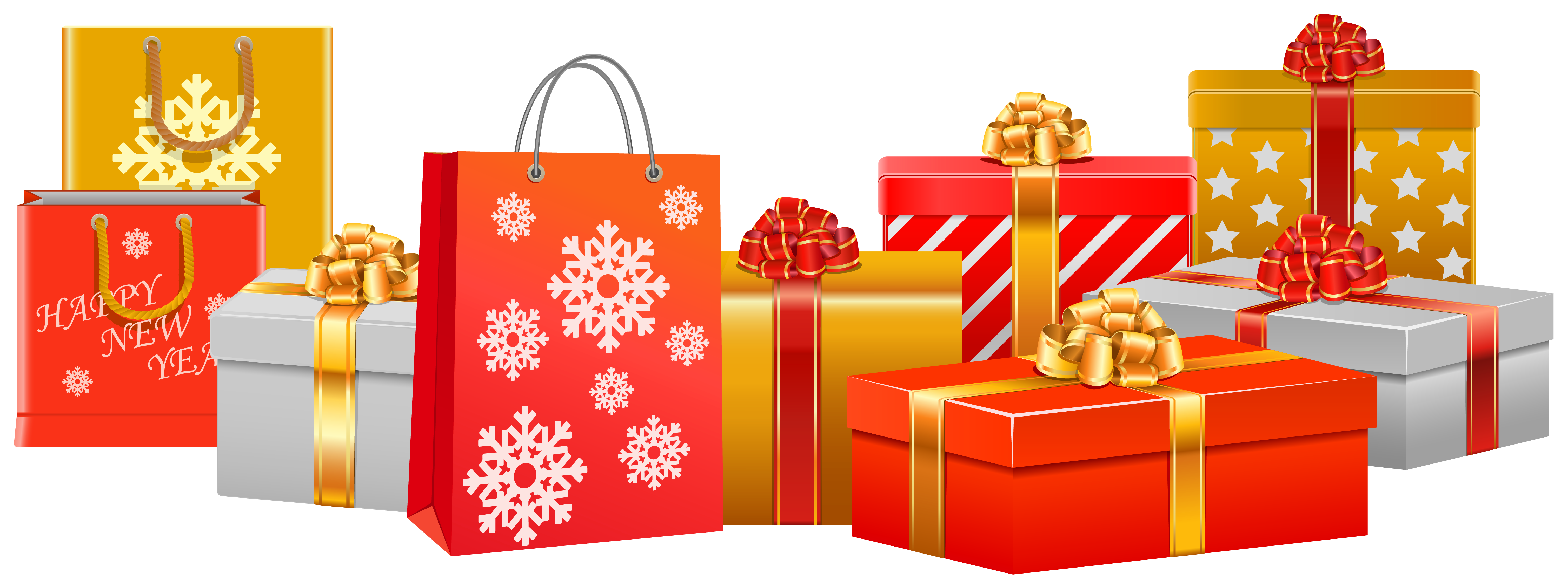 Holiday presents png. Free christmas gifts cliparts