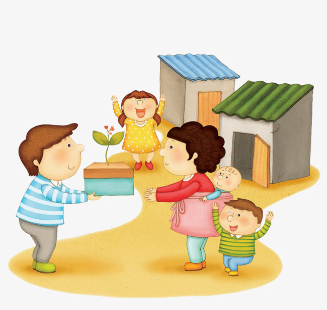 Gift clipart house png. People send gifts a