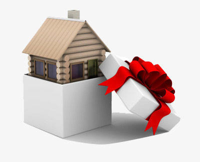 Gifts clipart house png. As a gift ribbon