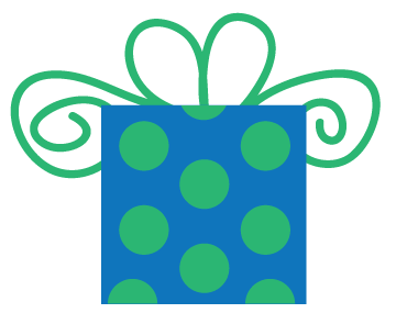 Green birthday png. Free gift images download