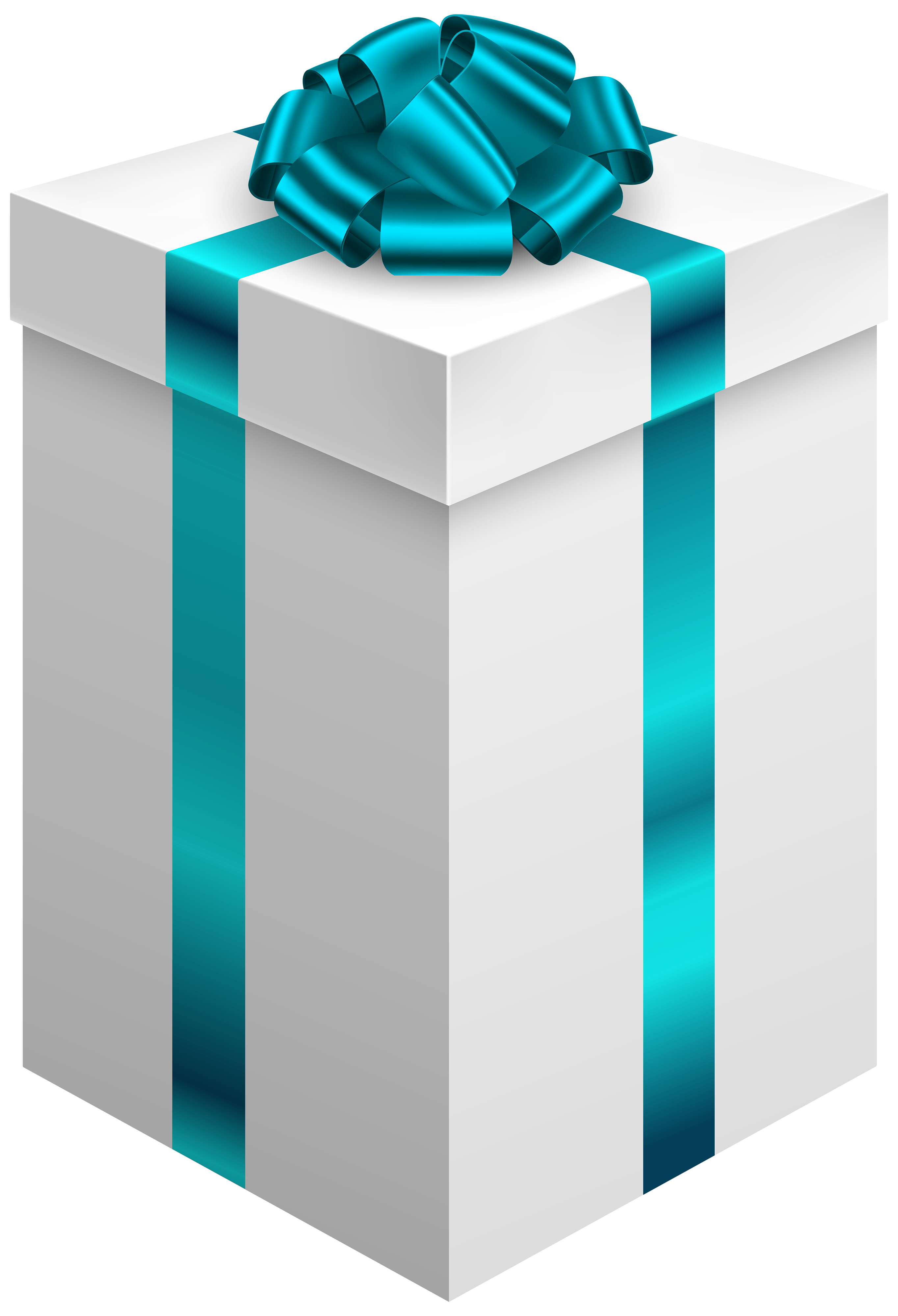 Blue gift bow png