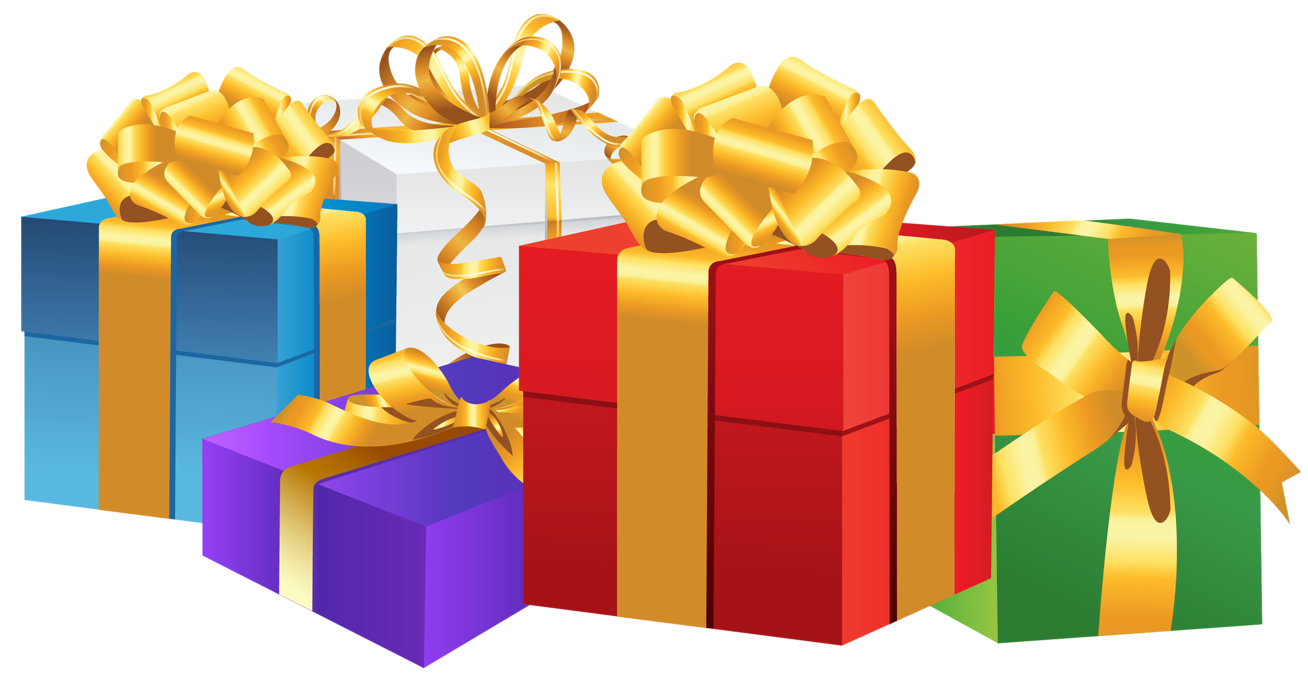 Presents png. Christmas gift transparent image