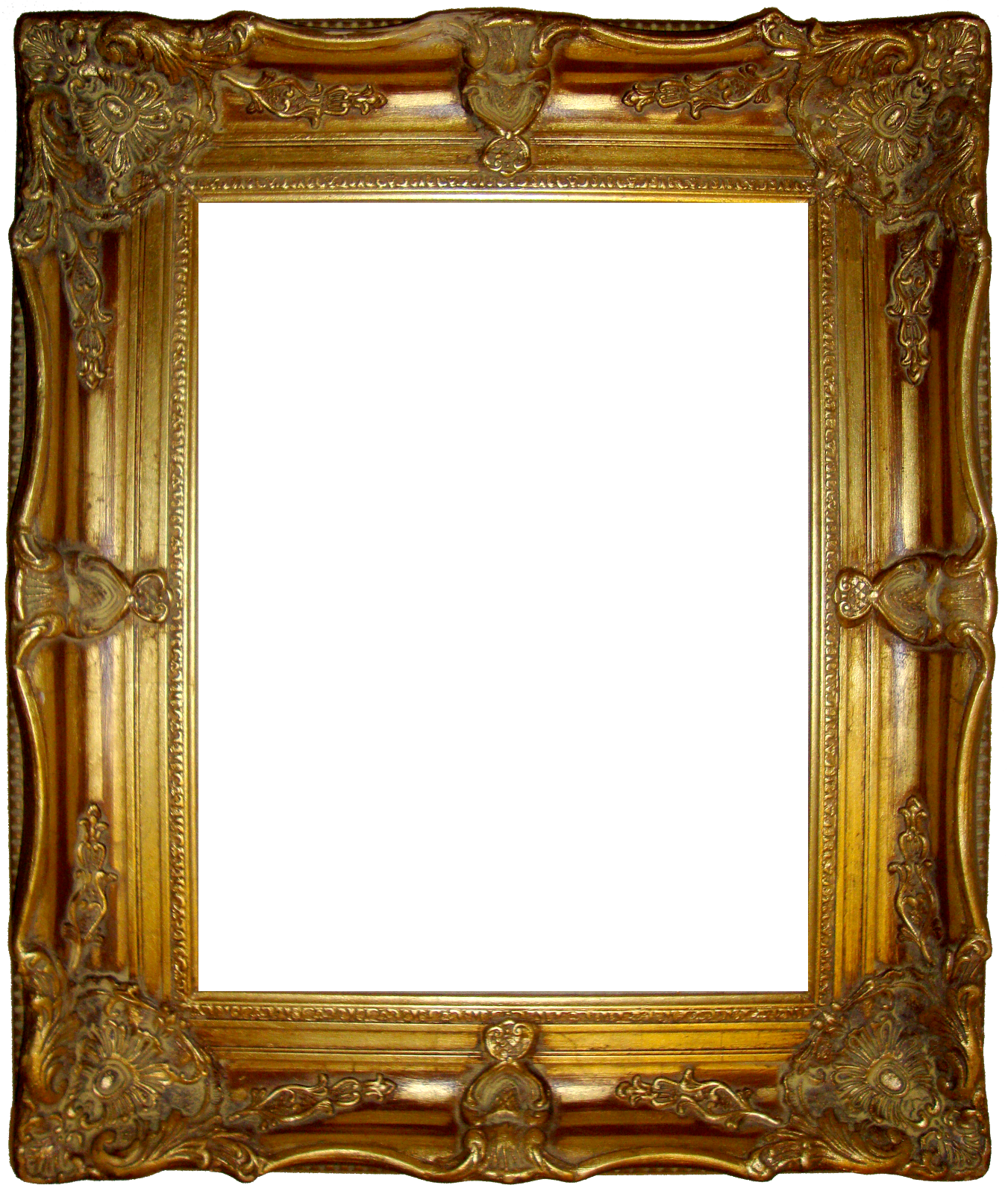 Gilded frame png. Fancy gold tall big