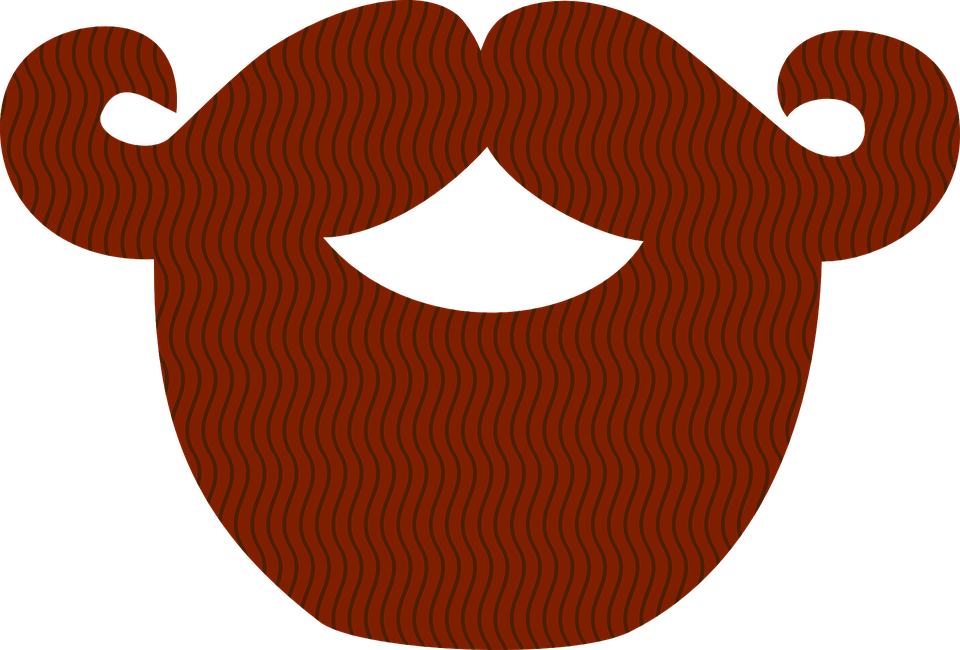 Ginger beard png. Realistic mustache transparent