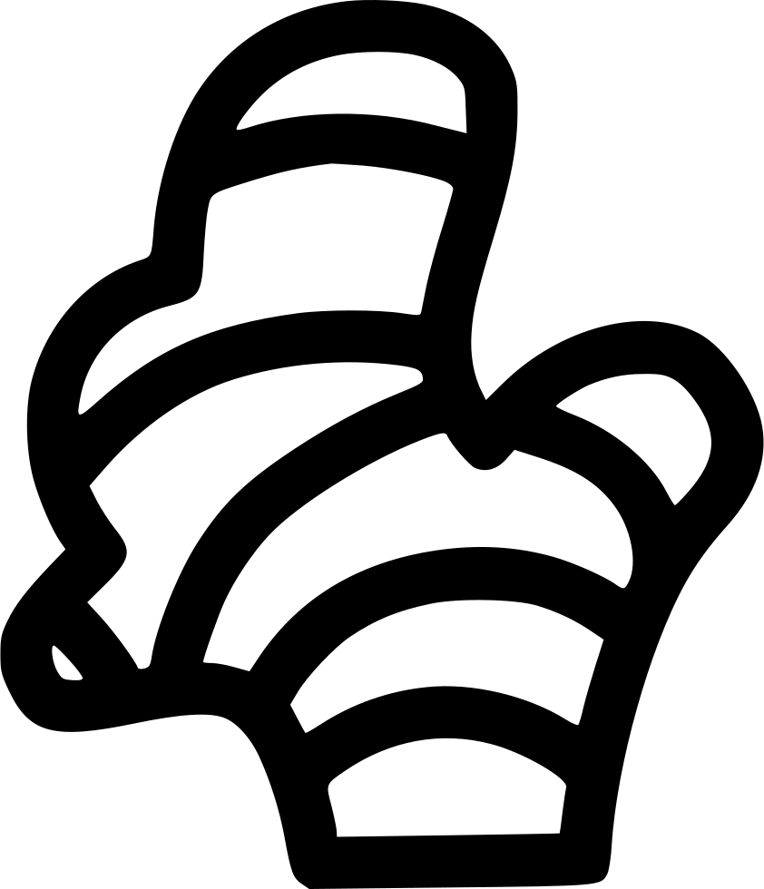 Ginger vector black. Svg png icon free