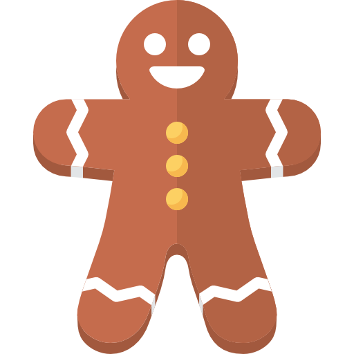 Ginger vector red. Gingerbread man free icons