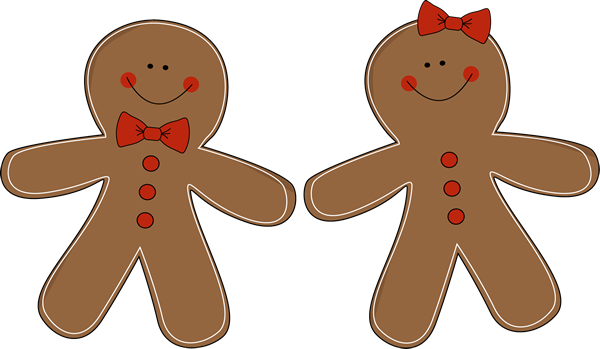 happy holidays clipart gingerbread