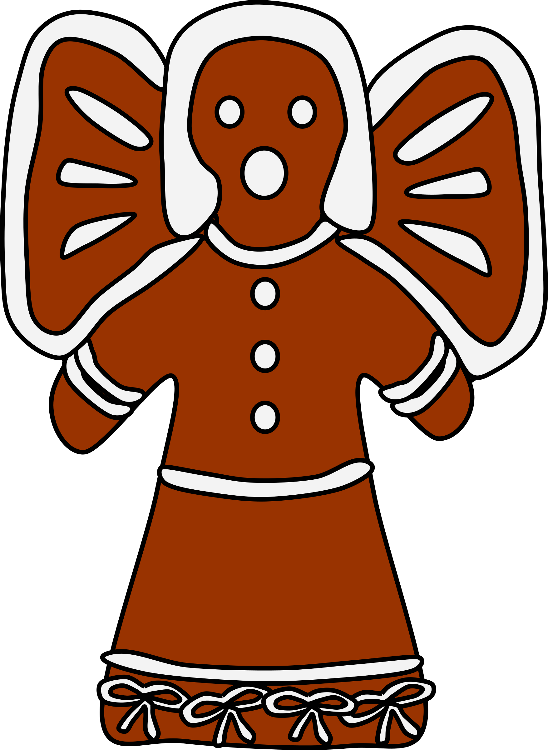 Gingerbread clipart big. Angel with bows image