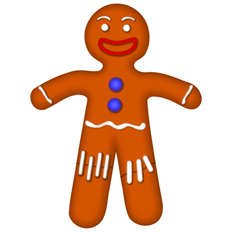 Gingerbread clipart gif transparent. Christmas at getdrawings com