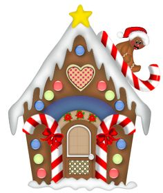 Gingerbread clipart gingerbread house. Clip art christmas png