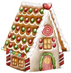 Gingerbread clipart gingerbread house. Clip art