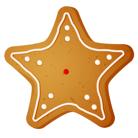 Cookie clipart vector. Transparent christmas star png