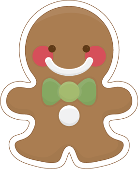 gingerbread svg chibi