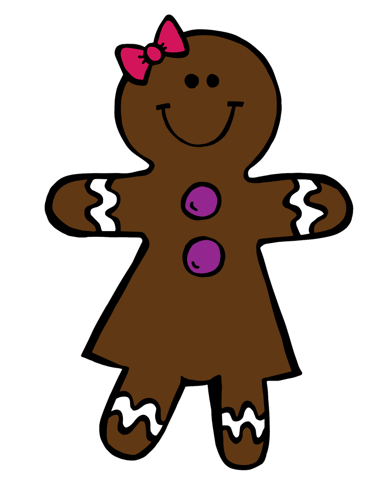 Gingerbread girl png. Collection of clipart