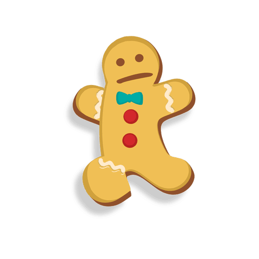Gingerbread man gangster vector png. Cookie jumping cartoon transparent