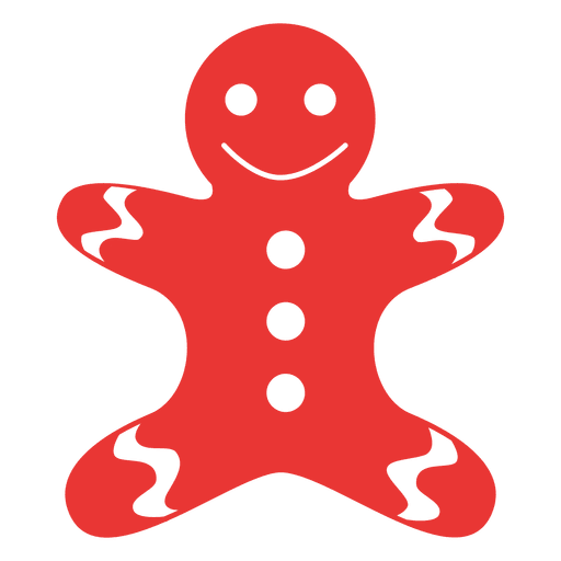 Gingerbread man gangster vector png. Flat icon red transparent