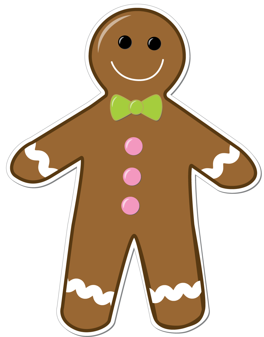 Gingerbread man png. Collection of clipart