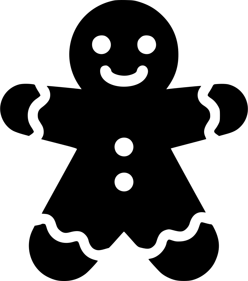 Gingerbread svg. Man png icon free