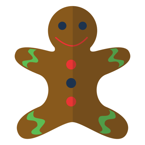Gingerbread svg cartoon. Man icon transparent png