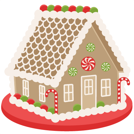 Gingerbread svg christmas. House scrapbook clip art