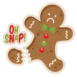 Gingerbread svg small. Oh snap man my