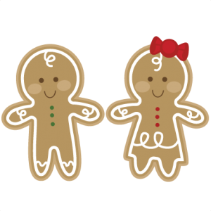 Gingerbread svg. Couple cutting file man