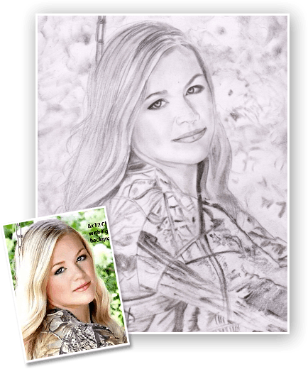 Portraits drawing easy. Pencil and charcoal drawings clip art black and white